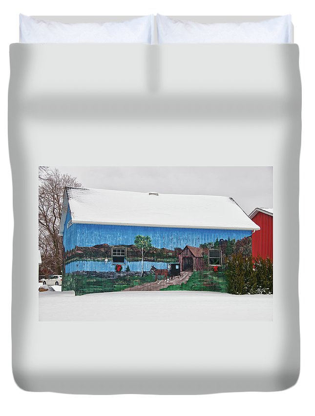 Barn Duvet Cover featuring the photograph Jamison Barn by Guy Whiteley