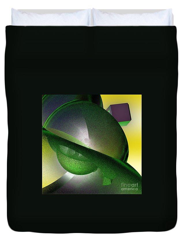 First Star Art Duvet Cover featuring the digital art jammer Quantum View by First Star Art