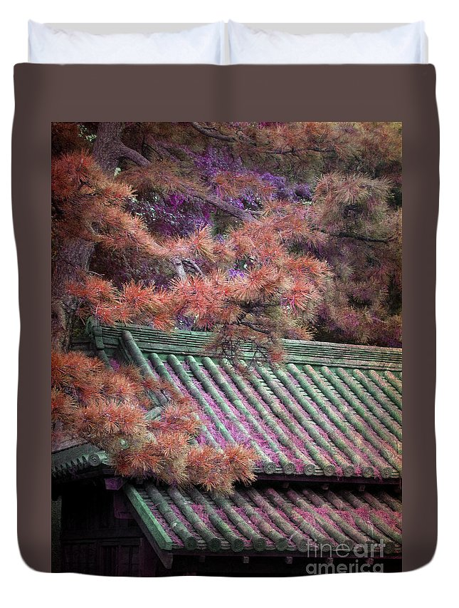 Roof Duvet Cover featuring the photograph Japanese Dream by Eena Bo