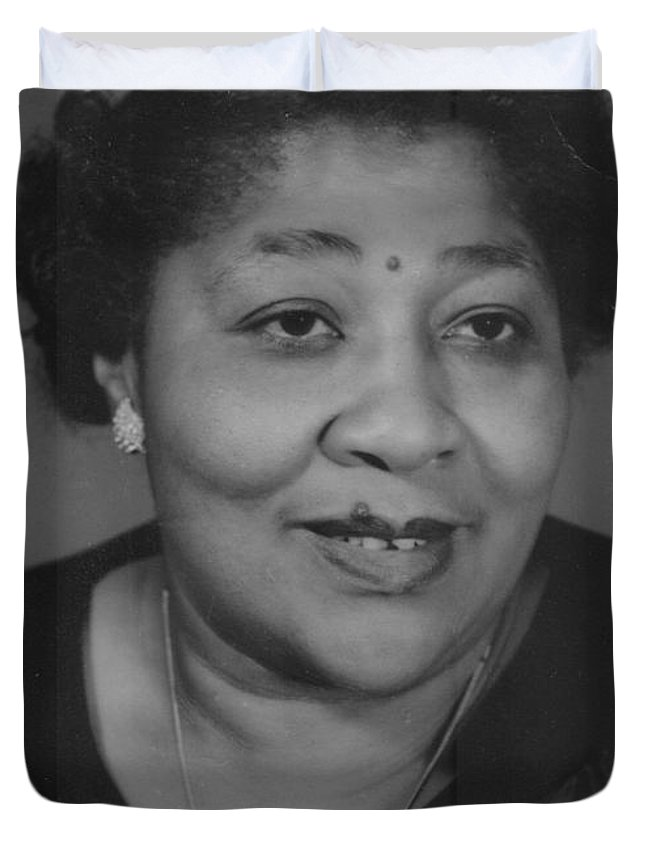 Duvet Cover featuring the photograph Javonia Lester Daughter Of Robert Lester by Angela L Walker