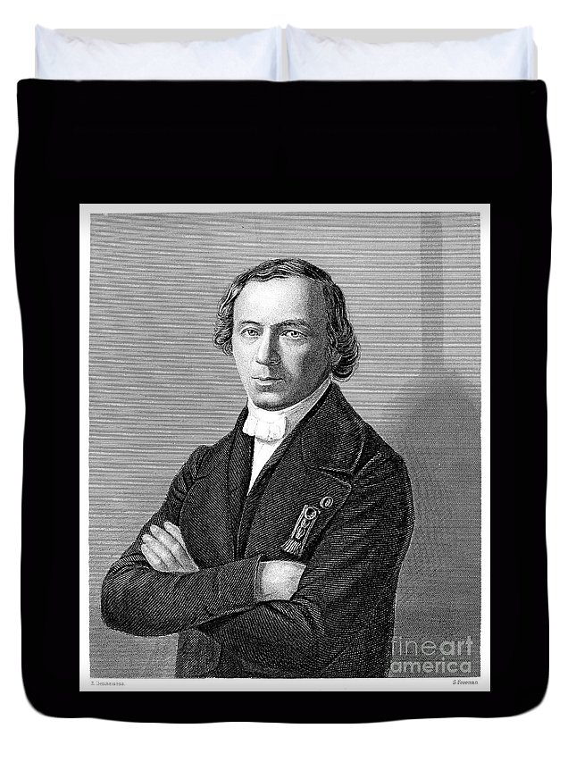 19th Century Duvet Cover featuring the photograph Jean Baptiste Andr� Dumas by Granger