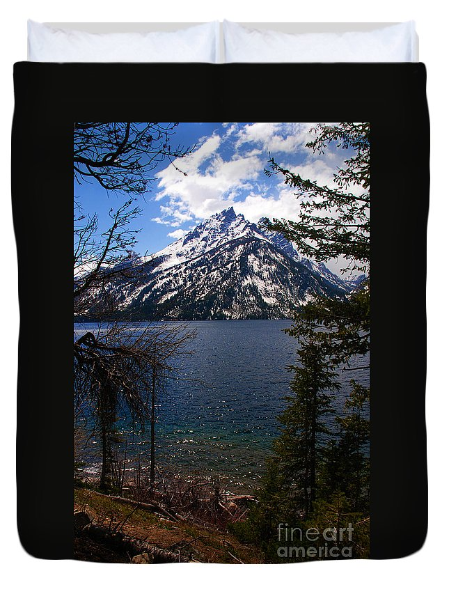 Jenny Lake Duvet Cover featuring the photograph Jenny Lake In The Grand Teton Area by Susanne Van Hulst