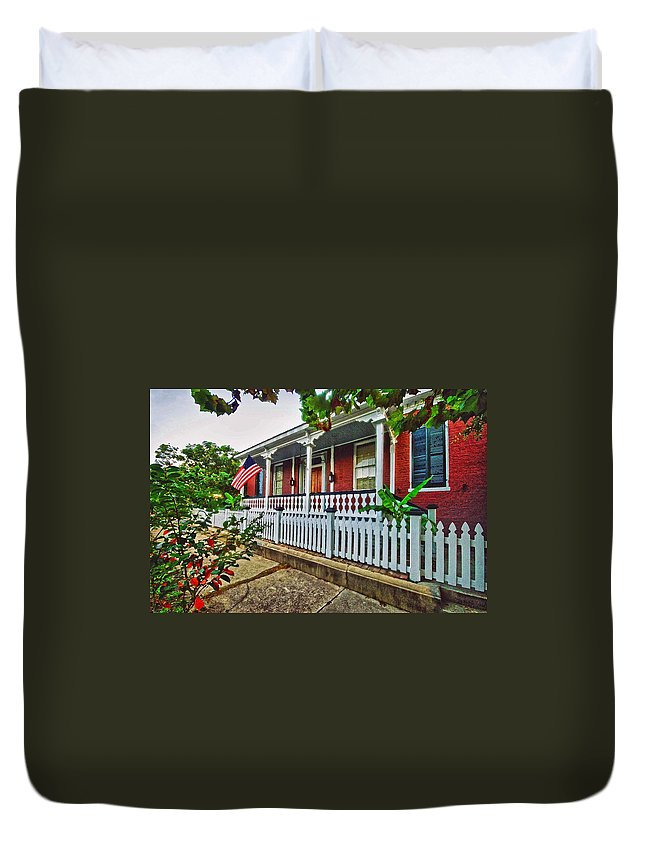 Duvet Cover featuring the digital art Jerry Arnold - Home by Michael Thomas