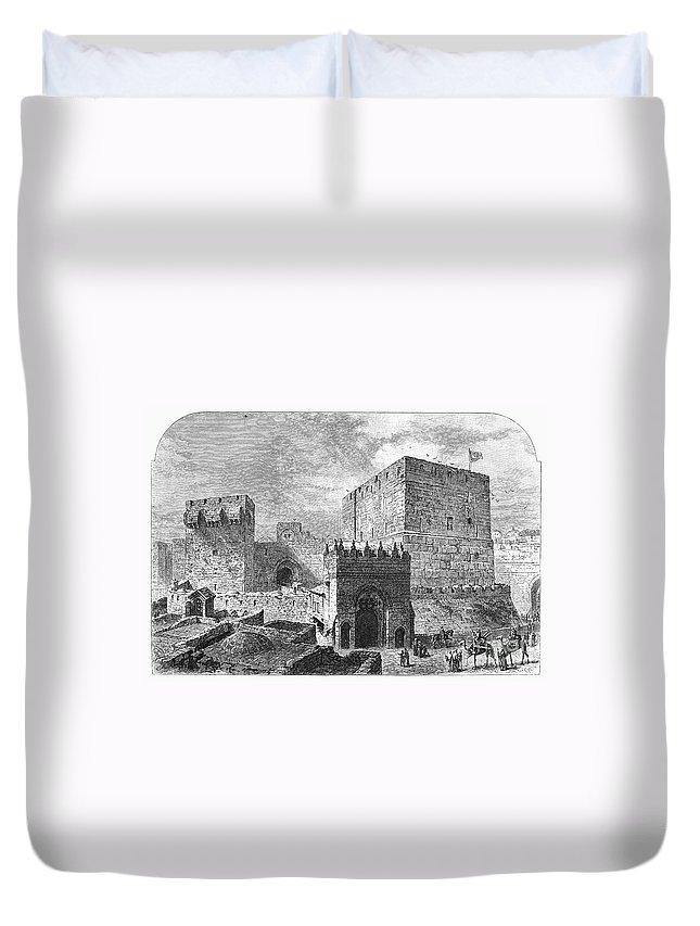 2nd Century B.c Duvet Cover featuring the photograph Jerusalem: Citadel by Granger