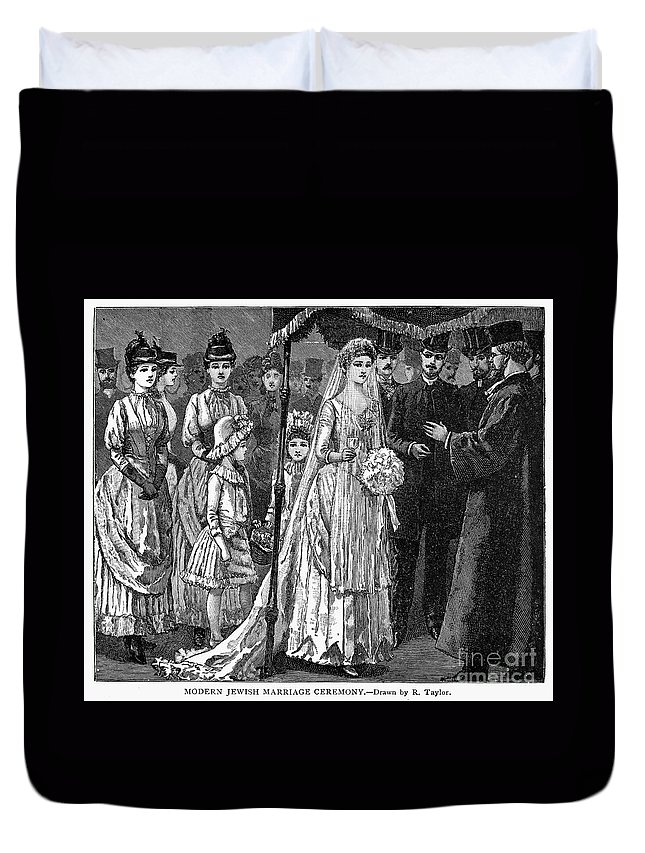 1892 Duvet Cover featuring the photograph Jewish Wedding, C1892 by Granger
