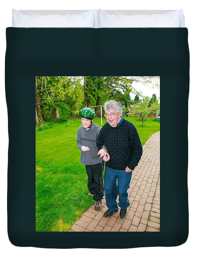 Father Jim Boyle Duvet Cover featuring the photograph Jim Boyle by Mike Penney