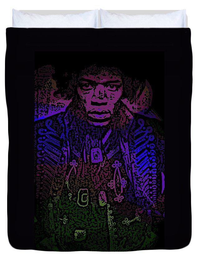 Jimi Duvet Cover featuring the photograph Jimi by George Pedro