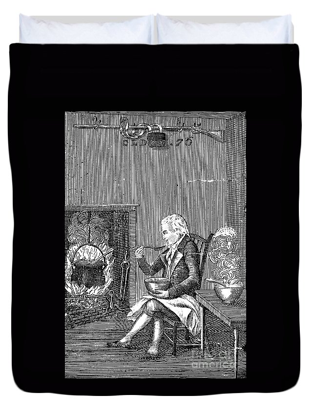 1796 Duvet Cover featuring the photograph Joel Barlow Frontispiece by Granger