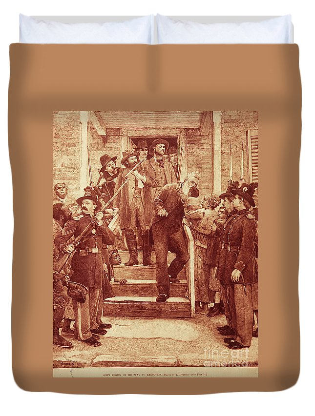 1859 Duvet Cover featuring the photograph John Brown: Execution by Granger