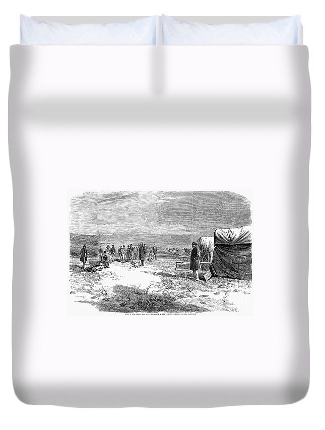 1877 Duvet Cover featuring the photograph John Doyle Lee (1812-1877) by Granger