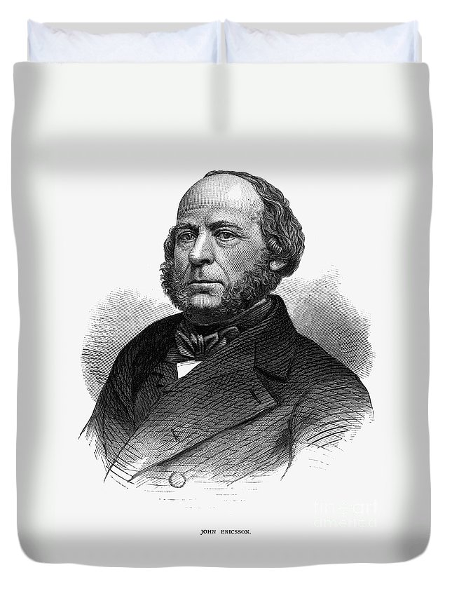 1860s Duvet Cover featuring the photograph John Ericsson (1803-1889) by Granger