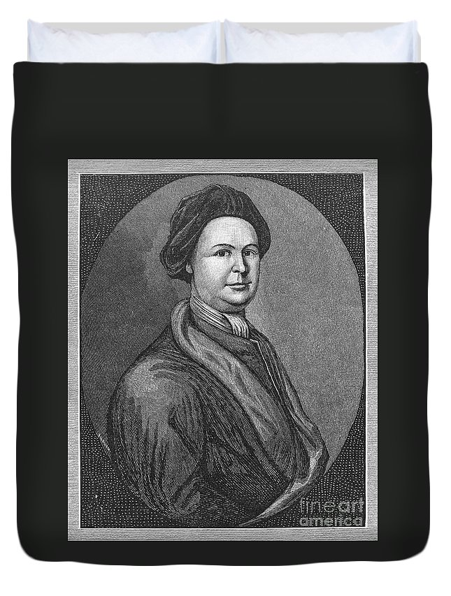 18th Century Duvet Cover featuring the photograph John Lovell (1710-1778) by Granger