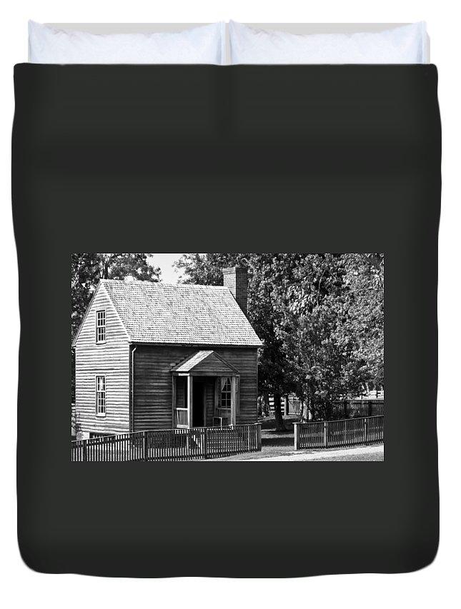 Appomattox Duvet Cover featuring the photograph Jones Law Office Appomattox Virginia by Teresa Mucha