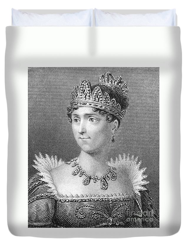 19th Century Duvet Cover featuring the photograph Josephine De Beauharnais by Granger