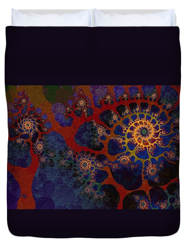 Fractal Duvet Cover featuring the digital art Joshua by Richard Kelly