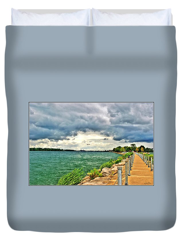 Duvet Cover featuring the photograph Journey Back From The Bridge by Michael Frank Jr
