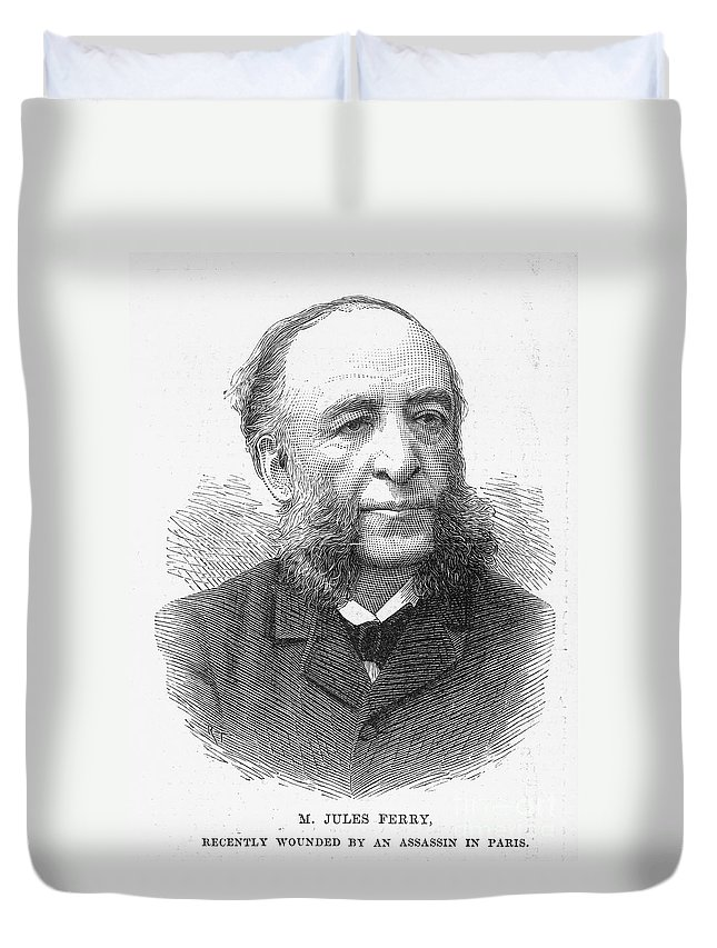 19th Century Duvet Cover featuring the photograph Jules Ferry (1832-1893) by Granger