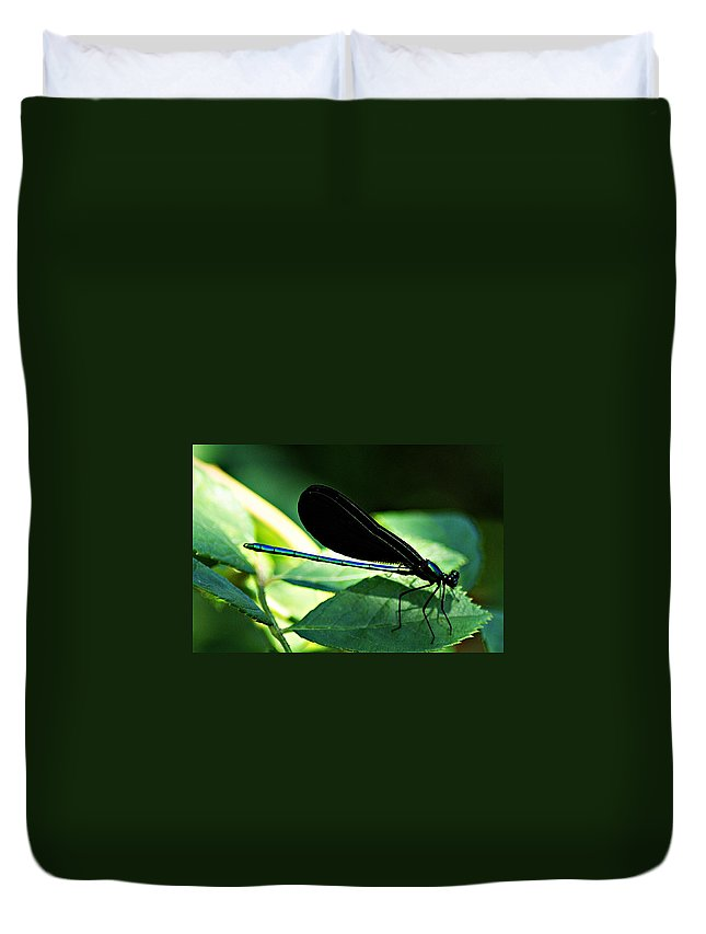 Dragonfly Duvet Cover featuring the photograph July Dragonfly II by Joe Faherty