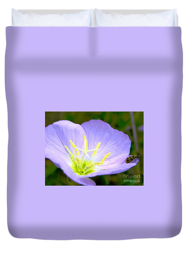 Buttercup Duvet Cover featuring the photograph Jumping Off Spot by Tisha Clinkenbeard