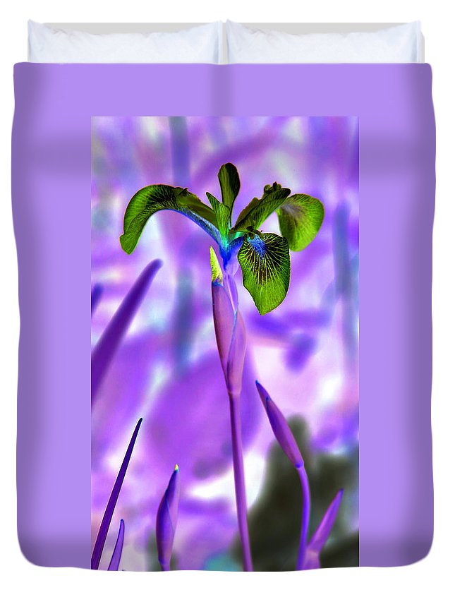 Iris Duvet Cover featuring the photograph Jungle Iris by Carolyn Stagger Cokley