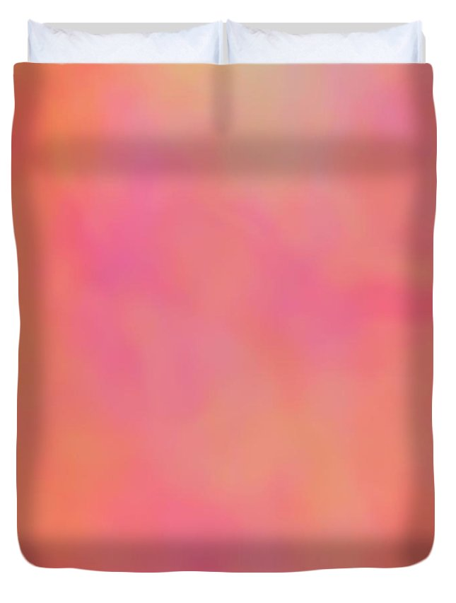 Pink Duvet Cover featuring the digital art Just A Kiss by Christy Leigh