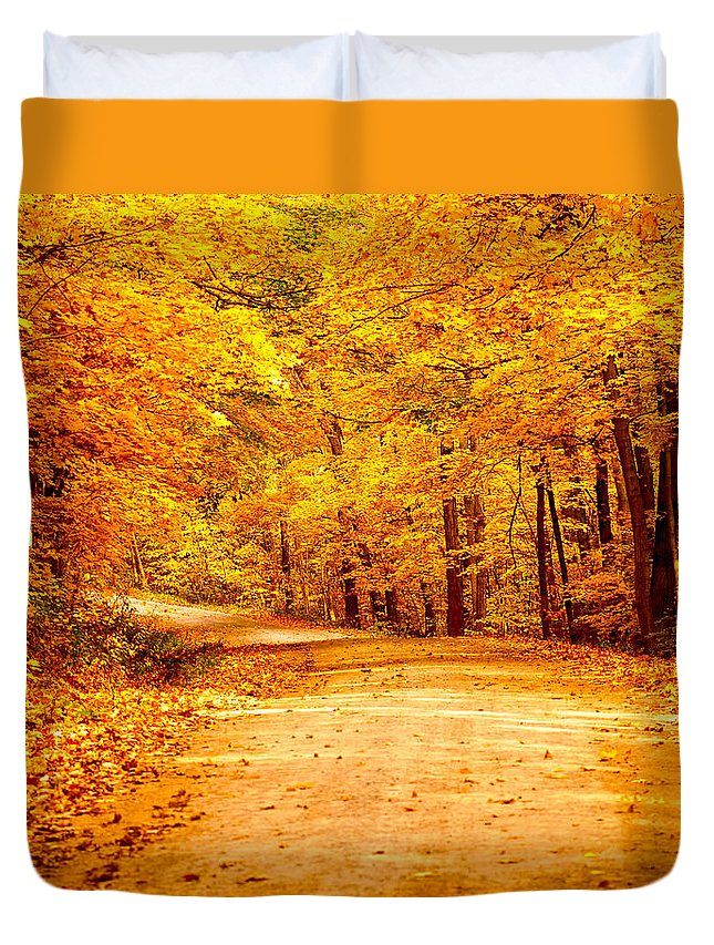 Just Start Walking Duvet Cover featuring the photograph Just Start Walking by Randall Branham