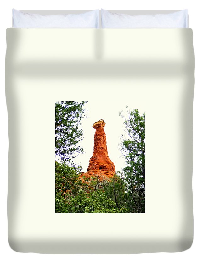 Sedona Duvet Cover featuring the photograph Kachina Maiden by Christie Starr Featherstone
