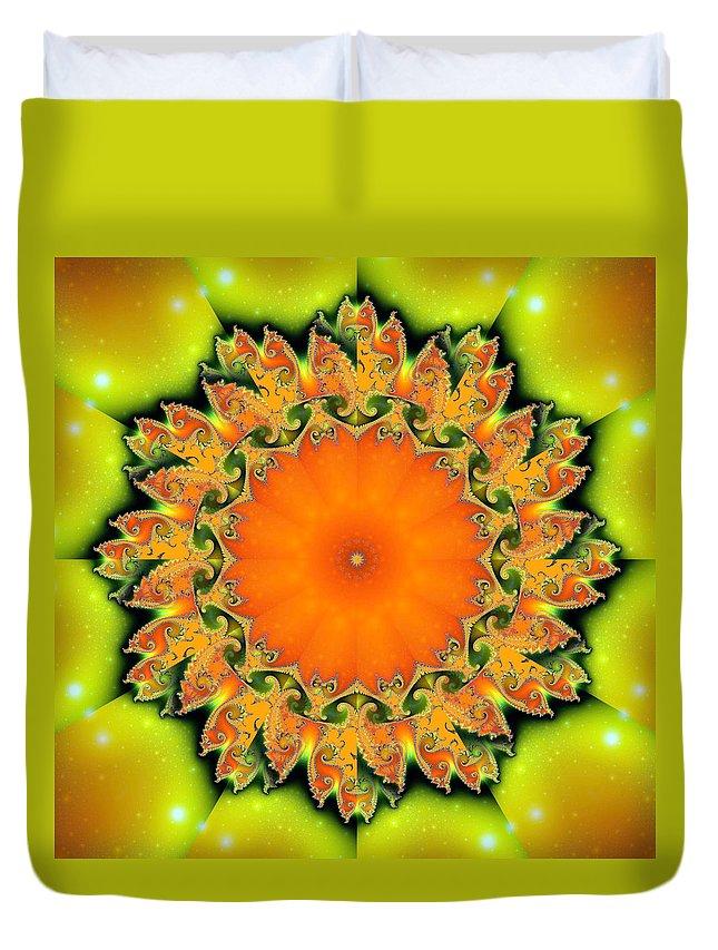 Fractal Duvet Cover featuring the digital art Kaleidoscope IIi by Richard Ortolano