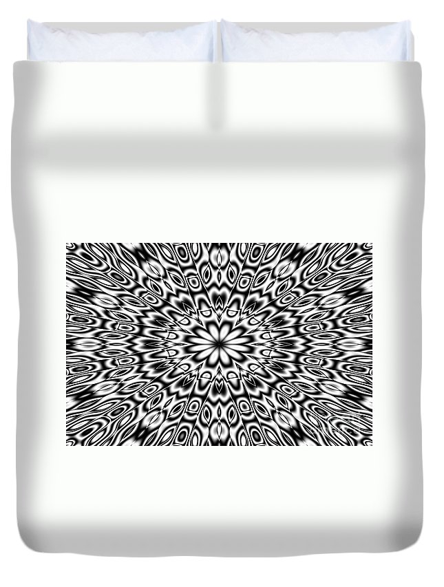 Ornament Duvet Cover featuring the digital art Kaleidoscope by Michal Boubin