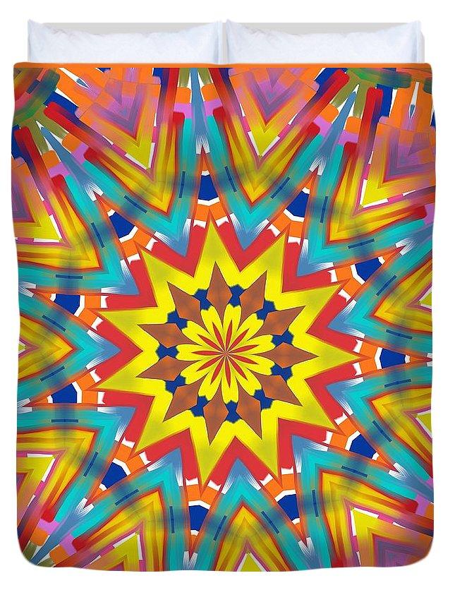 Kaleidoscopes Duvet Cover featuring the digital art Kaleidoscope Series Number 7 by Alec Drake