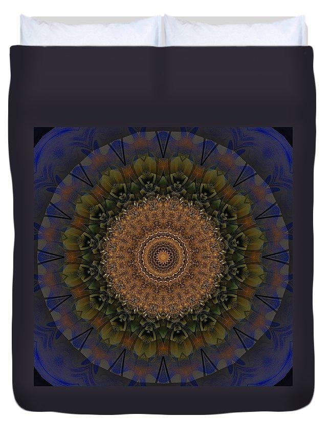 Kaleidoscope Duvet Cover featuring the digital art Kaleidoscope Vi by Richard Ortolano