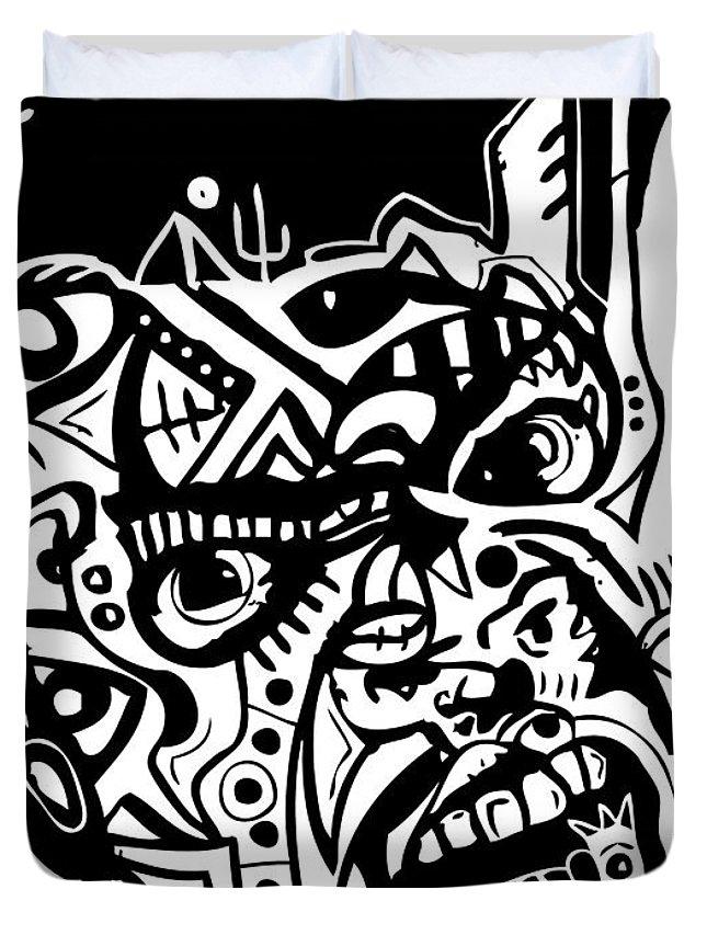 Blackartist Duvet Cover featuring the digital art Kamoni-khem by Kamoni Khem