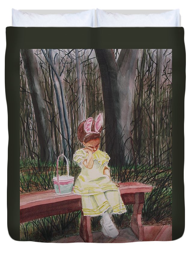 Duvet Cover featuring the painting Kateri by Edward Smith
