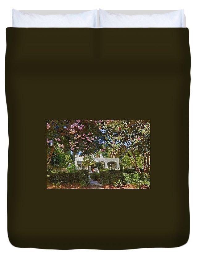 Duvet Cover featuring the digital art Keehn Home by Michael Thomas