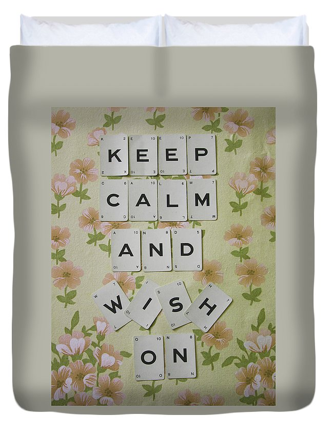 Keep Calm Duvet Cover featuring the photograph Keep Calm And Wish On by Georgia Fowler