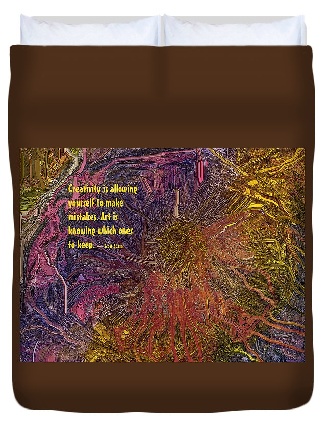 Abstract Duvet Cover featuring the digital art Keeper by Ian MacDonald