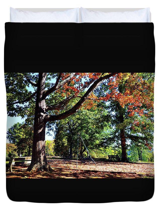 Kellifeer Park Duvet Cover featuring the photograph Kellifeer Park by Paul Mashburn