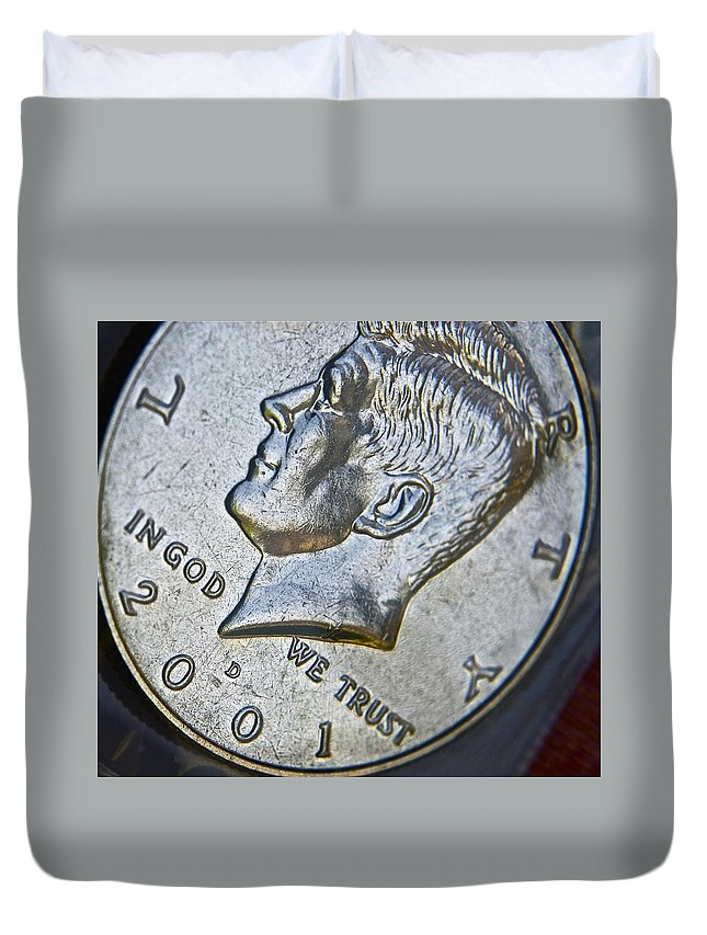 John F. Kennedy Duvet Cover featuring the photograph Kennedy 2001 by Bill Owen