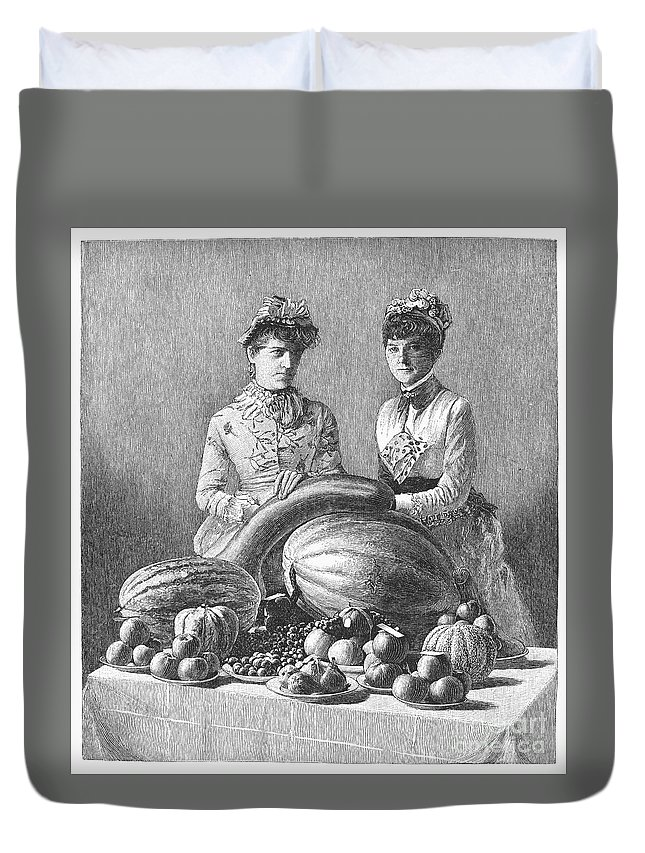 1889 Duvet Cover featuring the photograph Kentucky: Fair, C1889 by Granger