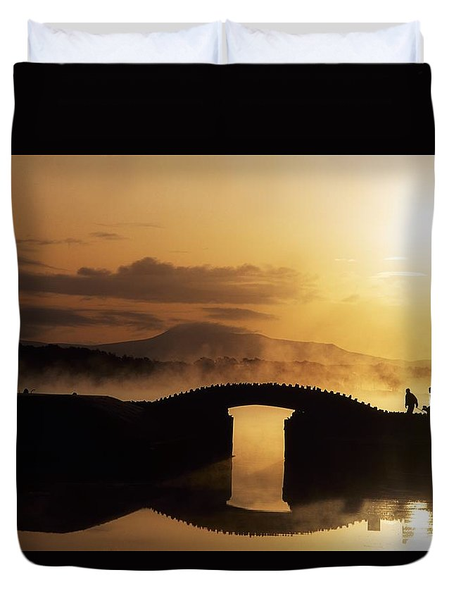 Dawn Duvet Cover featuring the photograph Killarney Golf Course, Co Kerry by The Irish Image Collection