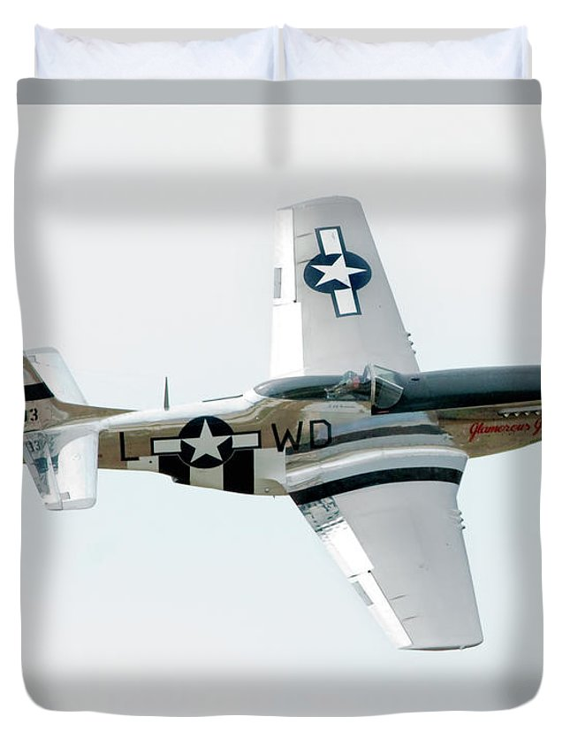 Airshow Duvet Cover featuring the photograph King Of The Skies by Greg Fortier