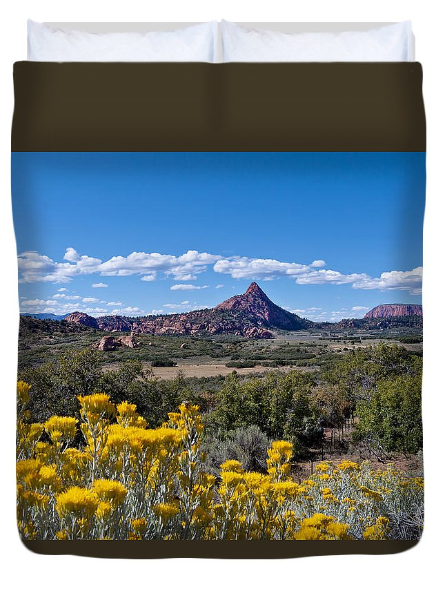 Kolob Terrace Duvet Cover featuring the photograph Kolob Terrace Afternoon by Mike Herdering