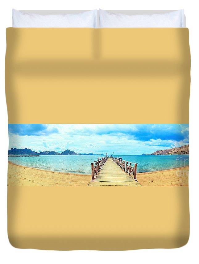 Komodo Duvet Cover featuring the photograph Komodo Panorama by MotHaiBaPhoto Prints