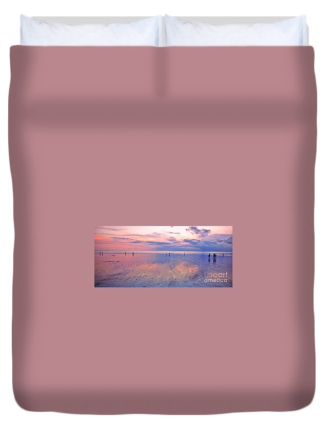 Beach Duvet Cover featuring the photograph Kuta Beach Bali by Charuhas Images
