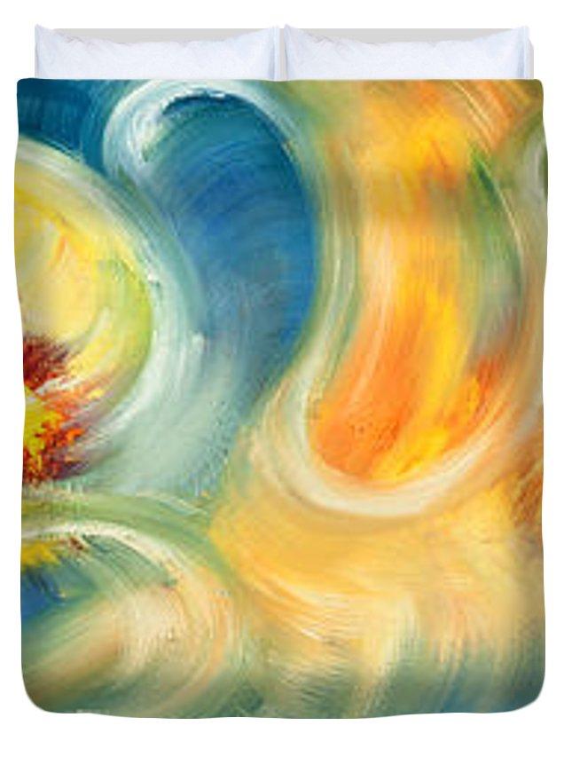 Soul Duvet Cover featuring the painting La Danza De Las Almas by Aliosha Valle