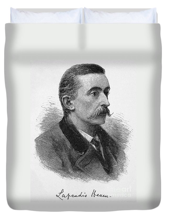 1887 Duvet Cover featuring the photograph Lafcadio Hearn (1850-1904) by Granger