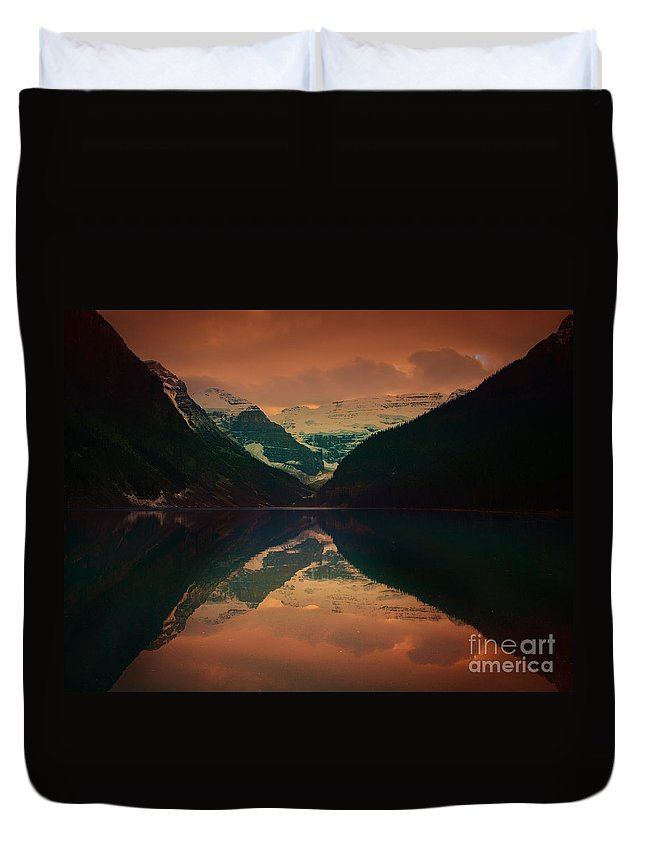 Lake Louise Duvet Cover featuring the photograph Lake Louise Abstract by Tara Turner