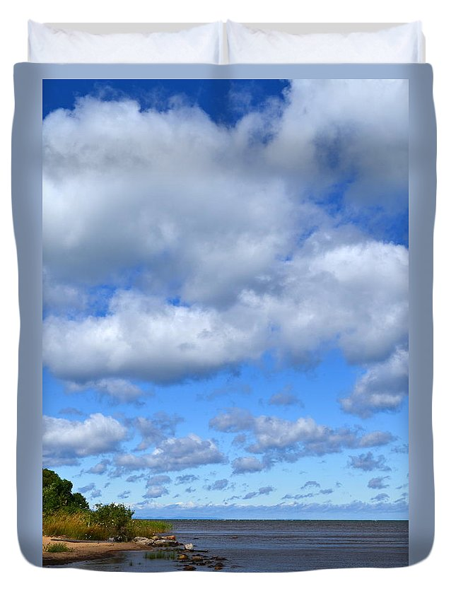 Lake Duvet Cover featuring the photograph Lake Superior At Whitefish Bay by Michelle Calkins