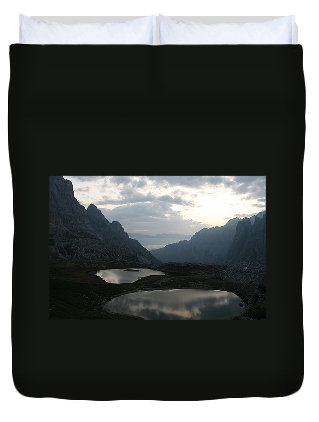 Lake Duvet Cover featuring the photograph Lakes In Dolomiti by Francesco Scali