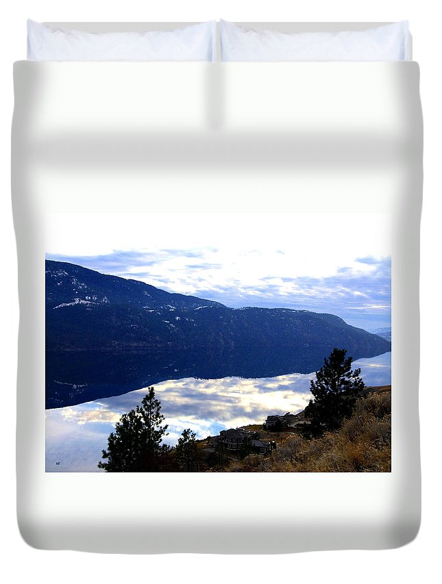 Lakeside Duvet Cover featuring the photograph Lakeside Living by Will Borden